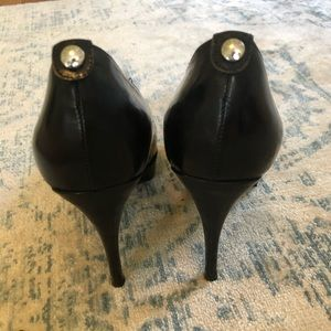 Michael Kors Shoes - Michael Kors York platform black heel sz7.5